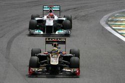 Бруно Сенна, Renault F1 Team и Михаэль Шумахер, Mercedes GP