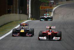 Sebastian Vettel, Red Bull Racing en Felipe Massa, Scuderia Ferrari