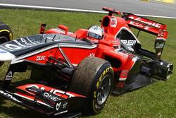 Timo Glock, Marussia Virgin Racing yarış dışı from race