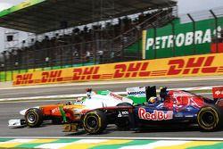 Адриан Сутиль, Force India F1 Team и Хайме Альгерсуари, Scuderia Toro Rosso