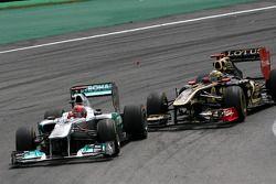 Михаэль Шумахер, Mercedes GP и Бруно Сенна, Renault F1 Team