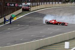 Felipe Massa, Scuderia Ferrari makes donuts