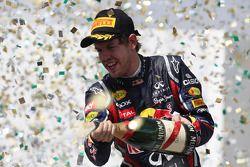 Podium: 2de Sebastian Vettel, Red Bull Racing