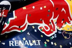 Red Bull covered confetti