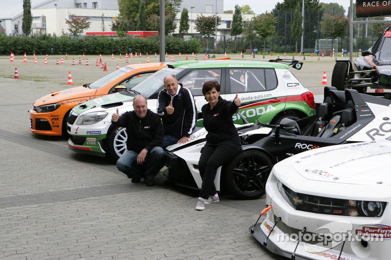 Michèle Mouton e Hans-Joachim Stuck na Corrida dos Campeões