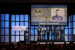 Matt Kenseth, Brad Keselowski, Jimmie Johnson, Dale Earnhardt Jr., Jeff Gordon, Denny Hamlin, Ryan Newman, Kyle Busch and Kurt Busch