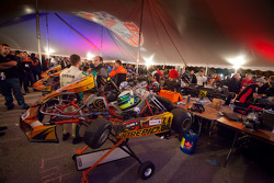 Pit area before the final race
