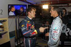 Sebastian Vettel y Michael Schumacher