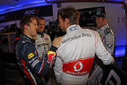 Sebastian Vettel, Michael Schumacher, Jenson Button ve David Coulthard