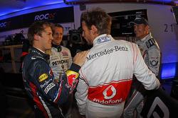 Sebastian Vettel, Michael Schumacher, Jenson Button ve David Coulthard