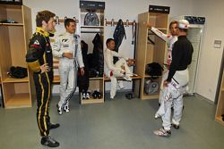 Romain Grosjean, Sébastien Ogier, Andy Priaulx, Jenson Button y Michael Schumacher