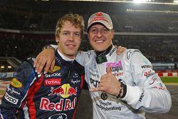 Winnaars Sebastian Vettel en Michael Schumacher