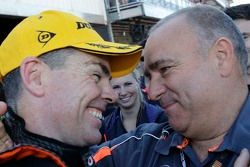 Race winner Craig Lowndes with team owner Roland Dane