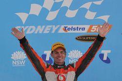 Podium: race winner Craig Lowndes