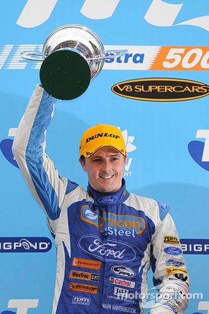 Podium: race winner Mark Winterbottom