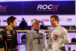 Romain Grosjean, Michael Schumacher y Juho Hanninen