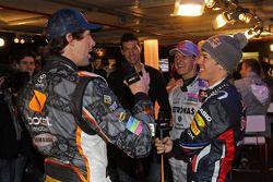 Michael Schumacher, Sebastian Vettel y Travis Pastrana