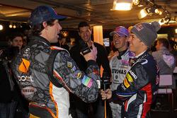 Michael Schumacher, Sebastian Vettel and Travis Pastrana
