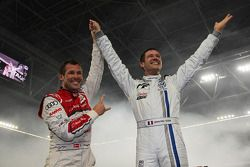 Winnaar Sébastien Ogier en Tom Kristensen