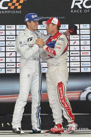 Podium: winner Sébastien Ogier and Tom Kristensen