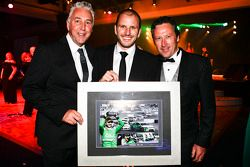 V8 Supercars Shane Howard, retiring driver Paul Dumbrell and team owner Rod Nash