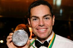Craig Lowndes with his third Barry Sheene Meda