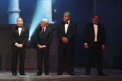 FIA President Jean Todt, FOM President Bernie Ecclestone, Force India Team Principal Vijay Mallya, FMSCI president Vicky Chandhok