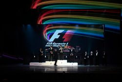 F1 kampioen Sebastian Vettel, 2de Jenson Button, 3de Mark Webber