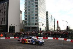 David Coulthard does donuts on the streets of Milton Keynes