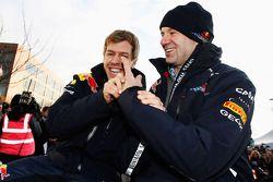 Sebastian Vettel en Adrian Newey, Red Bull Racing
