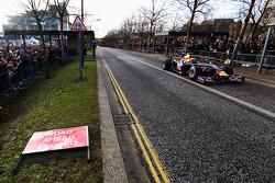 Mark Webber does donuts, streets, Milton Keynes