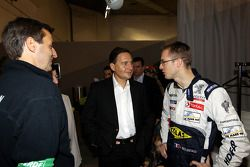 Eric Besson, French Industry Minister, with Sébastien Bourdais