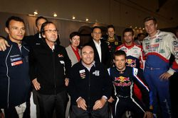 Eric Besson, French Industry Minister, with Stéphane Sarrazin, Philippe Streiff, Romain Grosjean, Sébastien Ogier, Sébastien Loeb and Julien Jousse