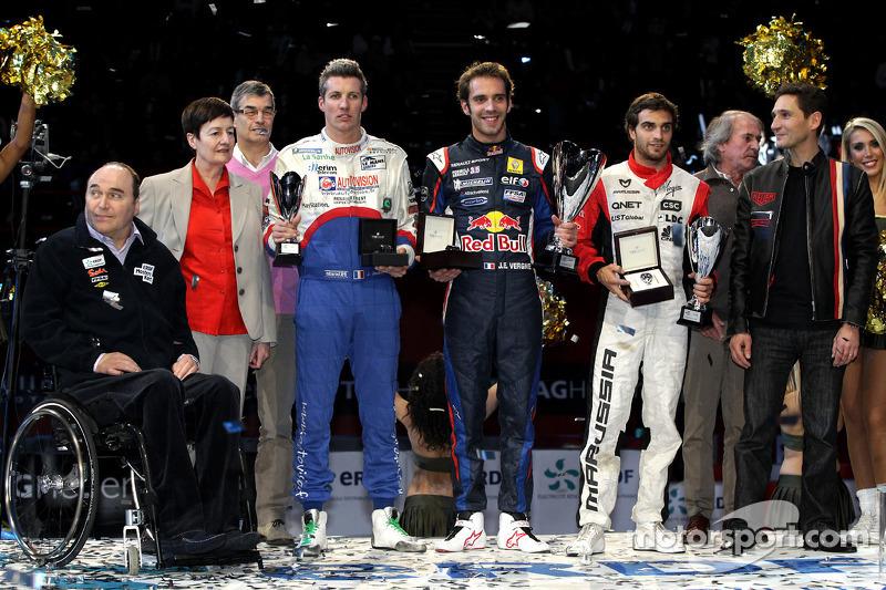 Winnaar Jean-Eric Vergne, 2de Jérôme d'Ambrosio, 3de Julien Jousse