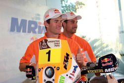 Marc Coma en Joan Pedrero voorstelling KTM