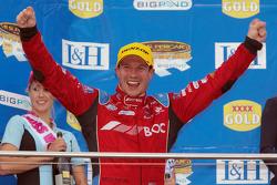 Jason Richards on the podium at Phillip Island in 2010