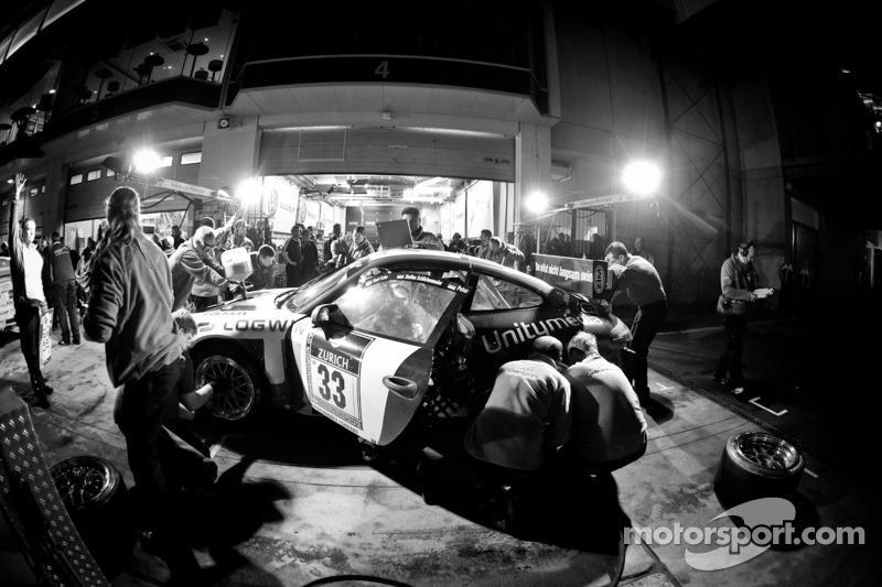 Pitstop #33 11er Ecke-Logwin-Cargraphic-Racing Porsche 911 GT3 Cup: Peter König, Steffen Schlichenme