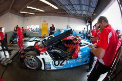 Pitstop oefening #02 Chip Ganassi Racing with Felix Sabates BMW Riley: Scott Dixon, Dario Franchitti