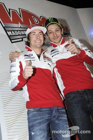 Nicky Hayden et Valentino Rossi