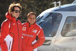 Felipe Massa llega por helicóptero