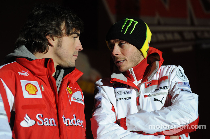 Fernando Alonso and Valentino Rossi