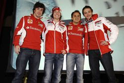 Felipe Massa, Nicky Hayden, Fernando Alonso and Valentino Rossi
