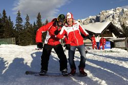 Valentino Rossi y Nicky Hayden