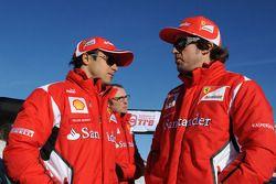 Fernando Alonso, Luca di Montezemolo y Felipe Massa