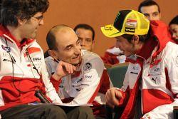 Filippo Preziosi, Ducati Corse General Manager y Valentino Rossi