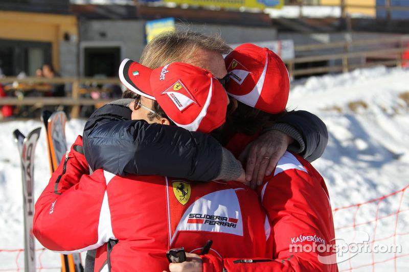 Fernando Alonso, Luca di Montezemolo ve Felipe Massa