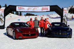 Fernando Alonso, Luca di Montezemolo, Stefano Domenicali and Felipe Massa present the new Ferrari FF
