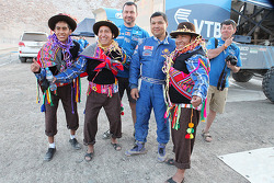 The Kamaz team with locals