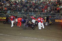 Marshals werken aan grote crash