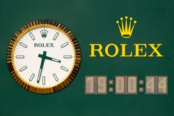 De nieuwe Rolex klok in de pitlane